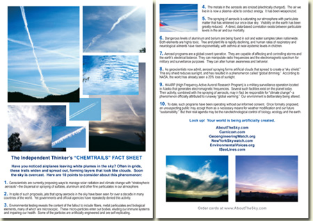 Chemtrails Fact Sheet